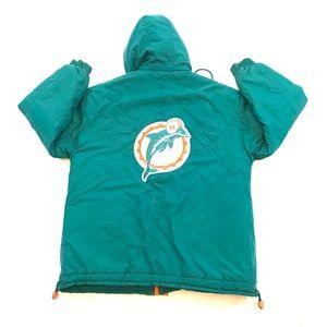 Miami Dolphins Apex One Vintage 90's Winter Jacket